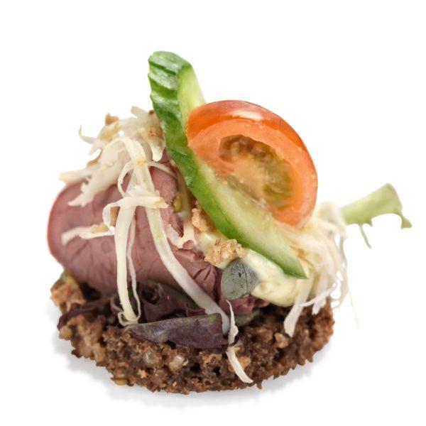 Smørrebrød med roastbeef